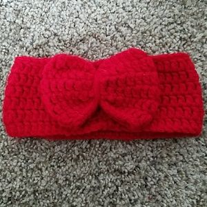 Handmade yarn red headband
